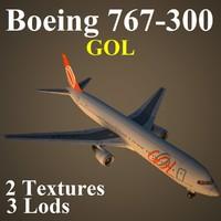 3d model boeing 767-300 glf