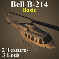 3d model bell basic helicopter