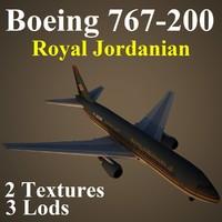 3d model boeing 767-200 rja