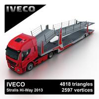 3d model 2013 iveco stralis hi-way