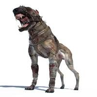 dangerous dog 3d model