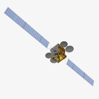 3ds max measat communications satellite
