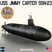 s jimmy carter ssn-23 3d max