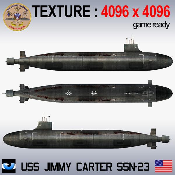 S Jimmy Carter Ssn 23 3d Max