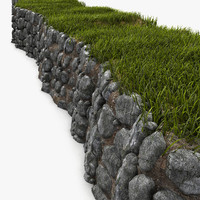 rock wall 3d obj