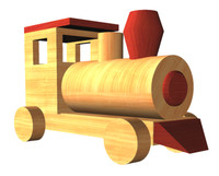 toy train obj