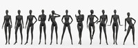 max slim female mannequins