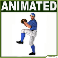 3d hat baseball player cg