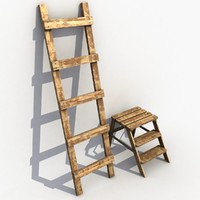 maya wood wooden ladder