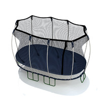 3d model trampoline enclosure