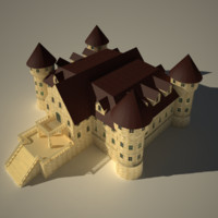 mansion castle 3d model
