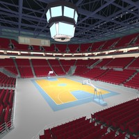 3ds max basketball arena