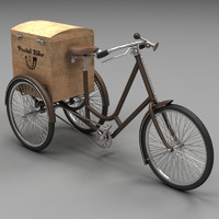 3d model classical postal bike