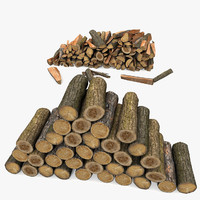Cut Chop Wood Log Pile