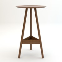 stool interior 3d 3ds