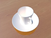 free coffee cup 3d model