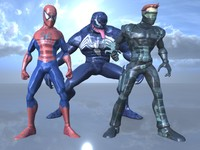 3d characters spiderman model