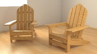 adirondack chair 3ds