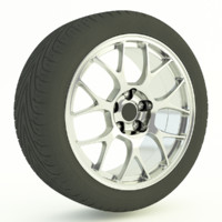 bbs alloy tyre 3d model