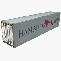 3d model of hamburg shipping cargo container