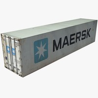 maersk shipping cargo container 3d model