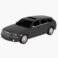 3d model chrysler 300c touring