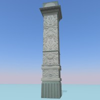 3ds max column soviet relief
