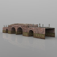 bridge country lane 3d obj