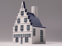 3d house ceramic dutch