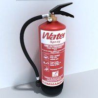 3d model of water extinguisher