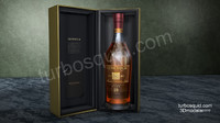 Glenmorangie Scotch whisky bottle and box for cinema 4D