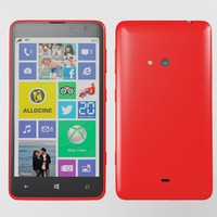 3d nokia lumia 625 red