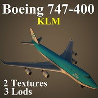 boeing 747-400 klm 3d max