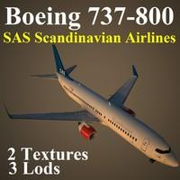 3d boeing 737-800 sas