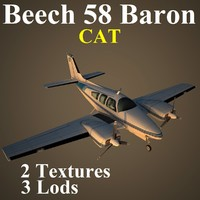 3d model of beech 58 cat
