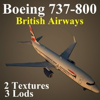 3d model of boeing 737-800 baw