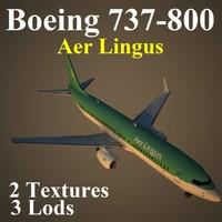 3d model boeing 737-800 ein