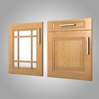 3d model kitchen cupboard doors