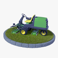 motorized grass 3d fbx