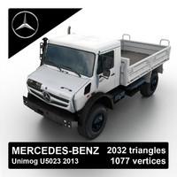 2013 mercedes-benz unimog u5023 3d model