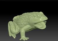 3d scan frog toy model