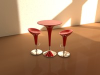 bombo table chair 3d model