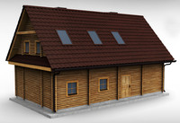 wooden house 3d 3ds