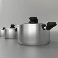 pot pan cook 3d max