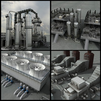 3ds max refineries unit industrial