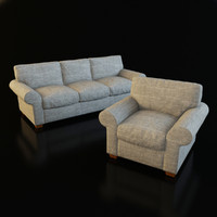 3ds max classic armchair sofa