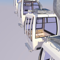 3ds max cableway cars