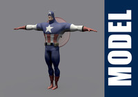 3d model of captain america