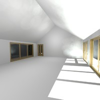 free project bungalow 3d model