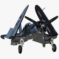 3d model chance vought f4u corsair